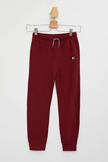 DeFacto Slim Fit Örme Jogger Pantolon Bordo